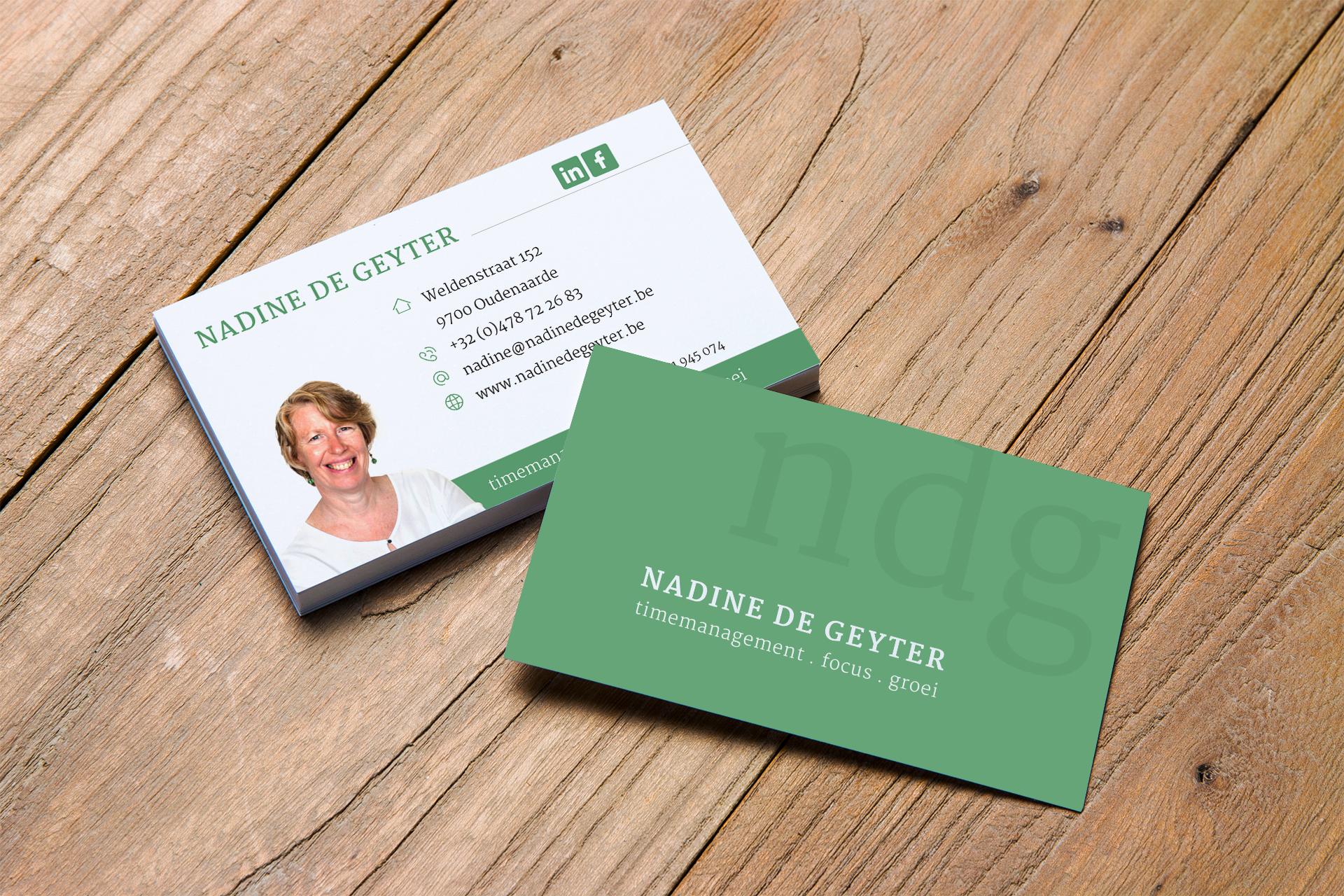 visitekaartje Nadine De Geyter