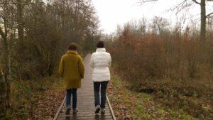 wandelen met Lenie en Nadine